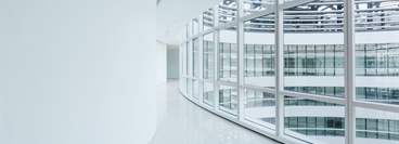 White floor in modern building