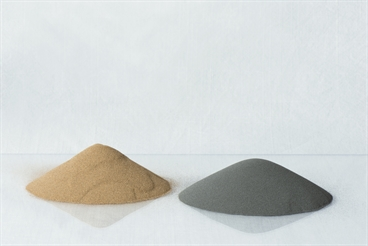 Two different types of metal powder